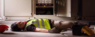 An injury male who will be claiming workers compensation